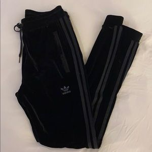 Adidas velvet track pants